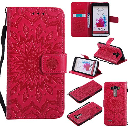 Nutbro LG G3 Case, LG G3 Cool Phone Cases, [Stand Feature] Premium Magnetic PU Leather Wallet With Card Slot Folio Flip Case Cover For LG G3