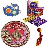 Celebrations Ganesha Blessed Bhai Dooj Thali With Cadbury Celebrations, Mauli And Tilak