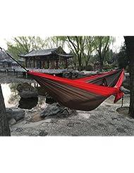 HBZLL Hamaca doble del jardín de la persona 300kg Loading 0.6kg Importado 210T Resistencia ligera de HammockTear del nilón del paracaídas Envío libre