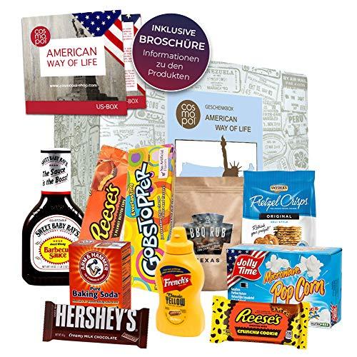 Geburtstagsbox American Way of life Amerikanische Süßigkeiten + US BBQ aus den Staaten | Geschenkidee zum Geburtstag | Geschenk Box Amerika Set -