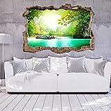 murando - 3D WANDILLUSION 140x100 cm Wandbild - Fototapete - Poster XXL - Loch 3D - Vlies Leinwand - Panorama Bilder - Dekoration - Landschaft Natur c-C-0107-t-a