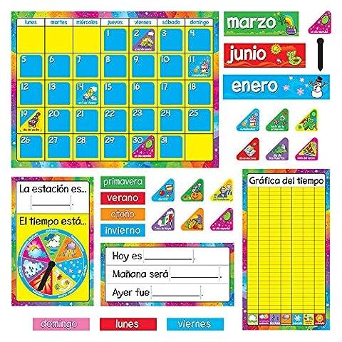 Trend Enterprises Calendario Anual Bulletin Board Set (Spanish) (T-8097)