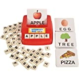 Literacy Fun Game Matching Letter Game, 60 Flash Cards English Word Spelling Memory Puzzle Board Sight Words Preschooler Lang