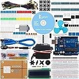 Keywish UNO R3 Project Mas Completo Starter Kit con Tutorial, Placa Controladora UNO R3, Pantalla LCD1602, Servo Motor para Arduino UNO Kit Starter Kit