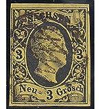 Goldhahn Sachsen Nr. 6 gestempelt und Geprüft Briefmarken für Sammler