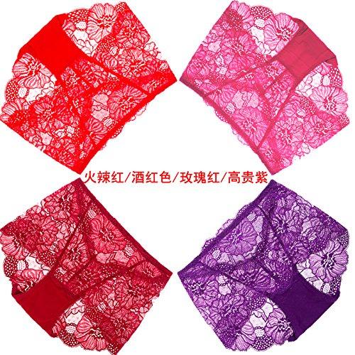 Artikel RRRRZ*4 große rote Box in diesem Jahr im Auftrag der weiblichen Unterwäsche Spitzenstoff in sexy Unterwäsche, XL, Taille 3 Hot rot / lila / rosa edlen Wein (The Jack Box Für Erwachsene Kostüm In)