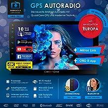 2DIN Android 6.0Auto Radio Creatone AMG de 1001con GPS Navegación (Europa), procesador Quad-Core, Wi-Fi 2,4GHz–5GHz, Bluetooth 4.0, pantalla táctil de 10pulgadas (26cm), DAB +, MirrorLink, OBD 2, admite Formato de vídeo 4K y función de USB/SD