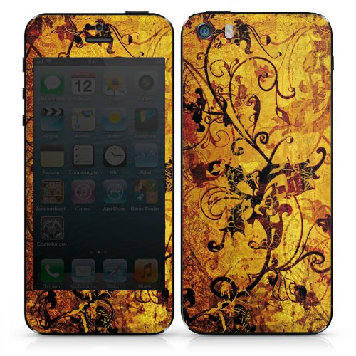 Apple iPhone 4s Case Skin Sticker aus Vinyl-Folie Aufkleber Ornament Blumen Ranken DesignSkins® glänzend