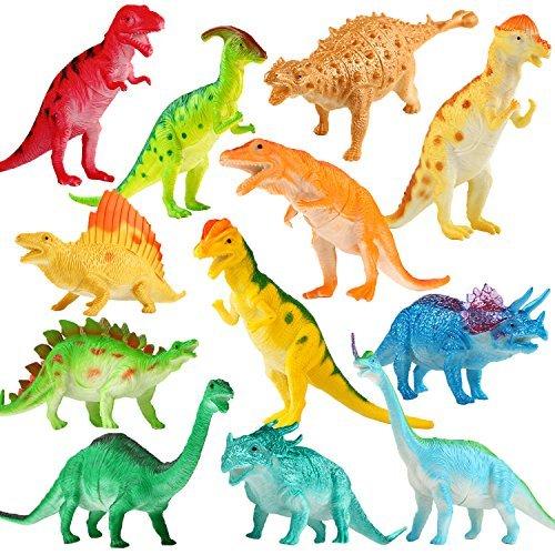 Figura de Dinosaurio, Juguete Grande de Dinosaurio de 7 Pulgadas(12 paquetes), Material Seguro Diversos Dinosaurios Realistas, Yeonha Juguetes de Dinosaurio de Plástico de Vinilo Juguetes para Aficionados de Fiestas para la Educación de Bebé Niños