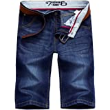 AITESEN Men's Jeans Shorts Summer Shorts Dark Blue W28-W44 W28-W44