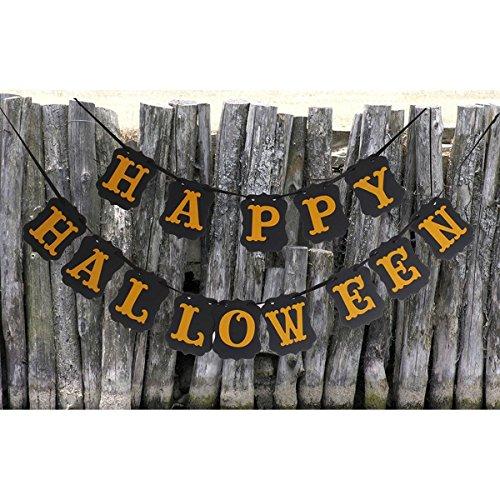 LUOEM Happy Halloween Banner Girlande Zeichen Bunting Halloween Party (Bunting Halloween)