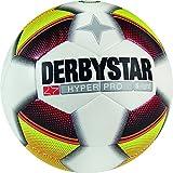 Derbystar Fußball Hyper Pro S-Light, Kinder Trainingsball, Ball Größe 4 (290 g), weiß Gelb Rot, 1022