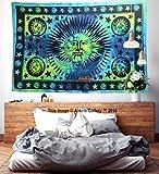 Diseño único sol luna Mandal Hippie colgar de la pared decoración Mandala tapices Hippie...