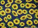 Sonnenblumen klein, auf blau, ca. 140cm