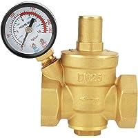 DN25 Régulateur Reducteur de Pression d'eau Réglable, Vanne de Réduction de Pression d'eau en Laiton + Manomètre Jauge…