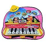 Lommer Musik Spielzeug, Kinder Musik Klavier Matte Musikmatte Tanzmatten Musikteppich Keyboard Teppich Musikinstrumente mit Licht Effekt für Kinder Kleinkind, Baby 2, 3 Jahre