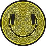 DMC DJ Slimpats - Patinador para tocadiscos (1 par), color negro y amarillo
