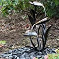 Copper Effect Leaf Solar Powered Water Feature