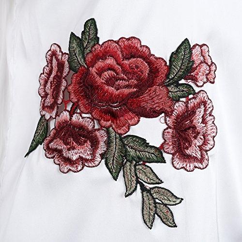 Simplee Apparel - Robe - Bandeau - Femme Blanc