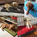 QHGstore Dog Crate Mat Kennel Cage Pad Bed Fluffy Washabel Travel Pet Cushion