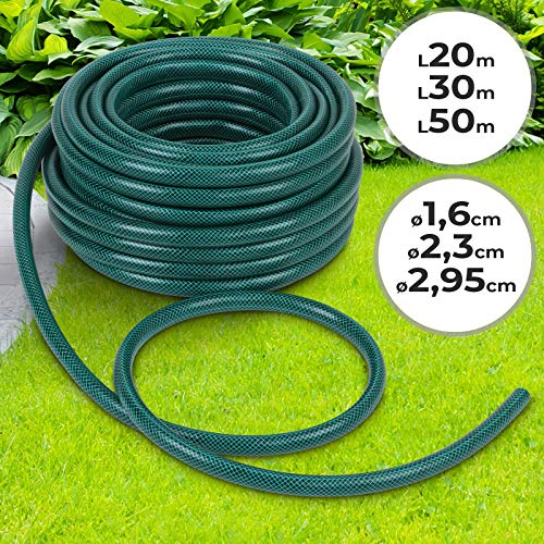 Pvc Garden Hose 50m - ca Ø: 2,95cm (lenght choise 20/30/50m)| Different diameters, Reinforced, Weather-resistant | Watering Pipe, Tube, Irrigation
