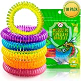 The Body Source® - Mosquito Repellent Bracelets (10 Pack) - DEET FREE - All Natural Anti Insect Midge and Bug Repellent Bands - Waterproof Citronella Wristbands for Adults & Children
