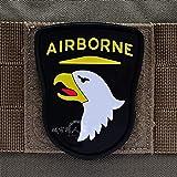 Astonish 101 Airborne Patch-PVCEmblem Kampf Haken- und Schlaufen Armbinde Gummiabzeichen für BDU Caps Rucksäcke Jacken