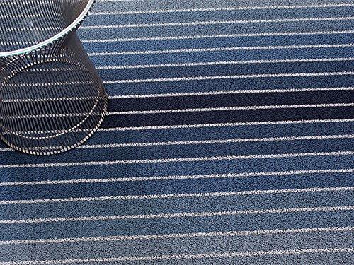 Chilewich Shag Indoor/Outdoor Utility Matte Block Stripe Denim 61x 91,4cm Utility Block
