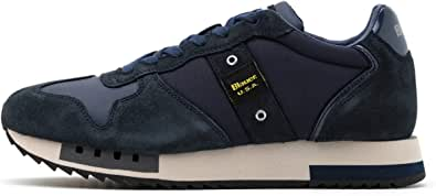 Blauer Scarpe Sneaker Running MOD. Queens in Suede/Tessuto Blu Navy Uomo U21BU02