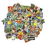 100 Aufkleber / Sticker - Retro-, Graffiti- Style, Reisen, Marken für Skateboard, Snowboard, Koffer, Notebook, Auto, Fahrrad & uvm. - Auto-Dress® (Set-1)