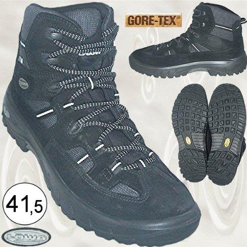 Lowa Gore-Tex Winturo GTX MID Lady Wanderschuhe, Damenschuhe, schwarz Gr. 41,5 [UK 7.5, USL 9, Länge der Einlegesohlen ca. 28 cm, max. Breite ca. 9,2 cm]
