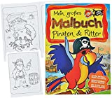 alles-meine.de GmbH 1 Stück _ Großes XL Malbuch - A4 -  Piraten & Ritter  - Große Motive - 80 Se..