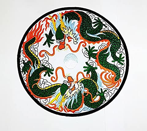 Rabana XXL Dragon Chinois Kung Fu Arts martiaux Yin Yang motard Rider Moto motard Club Patch pour DIY Bone Ghost Hog Outlaw Hot Rod motos Rider Lady motard Veste T Shirt Patch coudre fer brodé sur badge Signe fantaisie