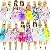 ZHUOTOP 10 pezzi Handmade Dress wedding party mini abito vestiti per bambola Baby