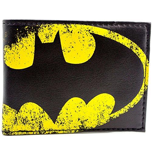 Cartera de DC Comics Batman Amarillo Palo Señal Negro