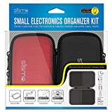 Sisma Small Electronics Travel Organiser Hard Carry Case for Cable Earphone USB-Stick Memory Cards and Other Small Parts (Small Pouch 2PCS Kit)