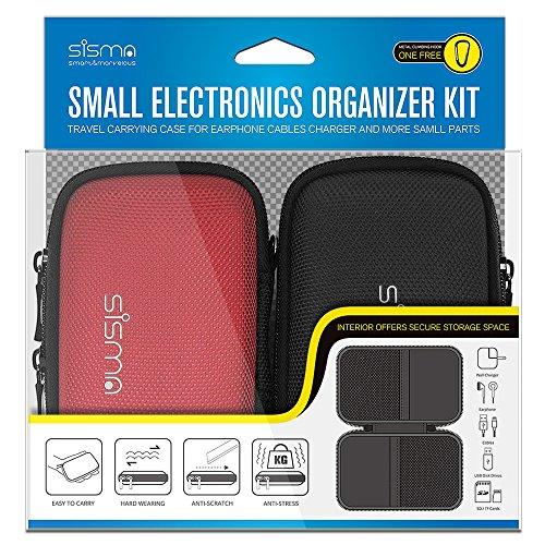 Sisma Festplattentasche für WD Samsung Portable SSD Externe Festplatte, Anker PowerCore 10000, Kleine Elektronik und Zubehör -2 Stück Kit