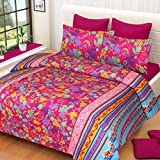Amayra Home Designer 3d Luxury Printed Double Bedsheet with 2 Pillow Covers 90'' X 90''