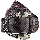 GUT INSTINKT - Cintura Artigianale di Lusso in Pelle Italiana di Serpente di Pitone Reale - BANJARA