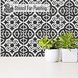 ALMERIA FLIESE Wand Möbel Fußboden Schablone für Malerei - Mittel