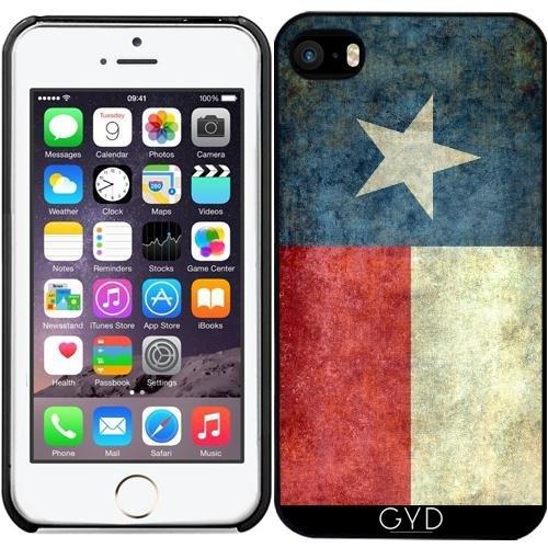 Leder Flip Case Tasche Hülle für Apple iPhone 6/6S - Vintage Staatsflagge Texas by BruceStanfieldArtist Starre Kunststoff