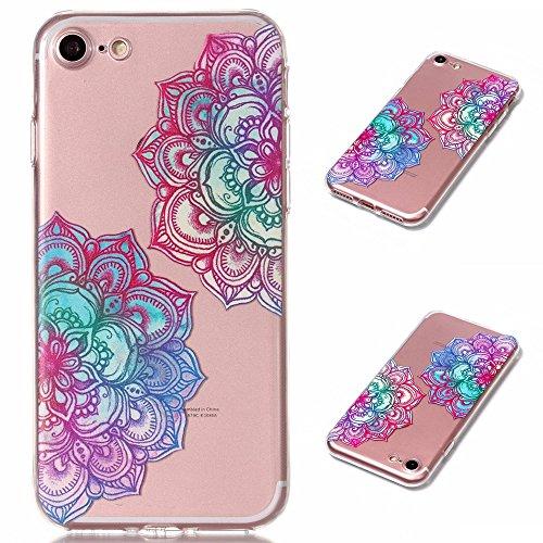 "Coque pour Apple iPhone 7 , IJIA Transparent Mignon Licorne TPU Doux Silicone Bumper Case Cover Shell Housse Etui pour Apple iPhone 7 (4.7"") XY22"