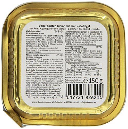 Animonda vom Feinsten Junior 82620 Rind+Geflügel 22 x 150 g Schale – Hundefutter - 3