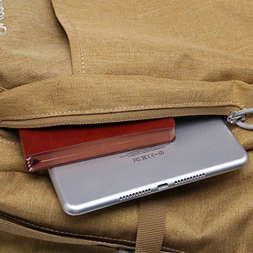 Mountaintop 25L/30L dauerhaft lässig Daypack Studenten Rucksack ideal für die Uni lässige Tasche, 44 x 28 x 13 cm/33x19x50 cm Khaki
