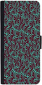 Snoogg Floral Seamless Pattern Designer Protective Phone Flip Case Cover For Moto E 2Nd Generation