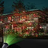 MICTUNING LED Projektionslampe Gartenleuchte mit Erdspieß, Dynamisches Effektlichtwasserdichte Effektlampe Dekorationslampe Scheinwerfer mit Fernbedienung und Timer für Weihnachten Feste Partys Garten Outdoor