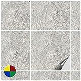 FoLIESEN 2272050 - Mattonelle adesive per Cucina e Bagno, Motivo Pietra Numero 4, 50 Pezzi, PVC, 15 x 15 x 1,2 cm