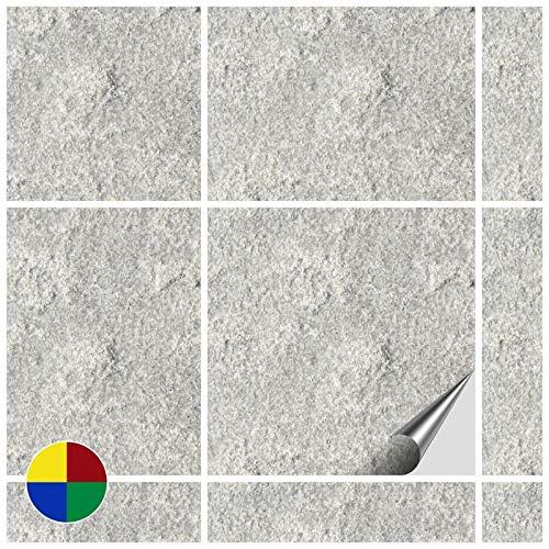 4 Stück-einheit (FoLIESEN Fliesenaufkleber Küche u. Bad-15x15 cm No.4-80, PVC, Dekor Stone Nummer 4, 80 Stück, Einheiten)