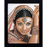 Pack of 0008301 Aida Counted Cross Stitch Kit - Indian Model In. W
