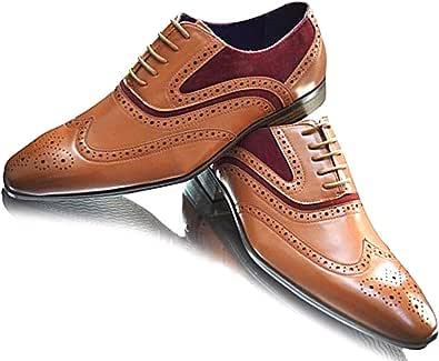 Scarpe da uomo foderate in pelle elegante da matrimonio, con lacci, punta rotonda, ideale per feste di matrimonio, lavoro, casual e formale
